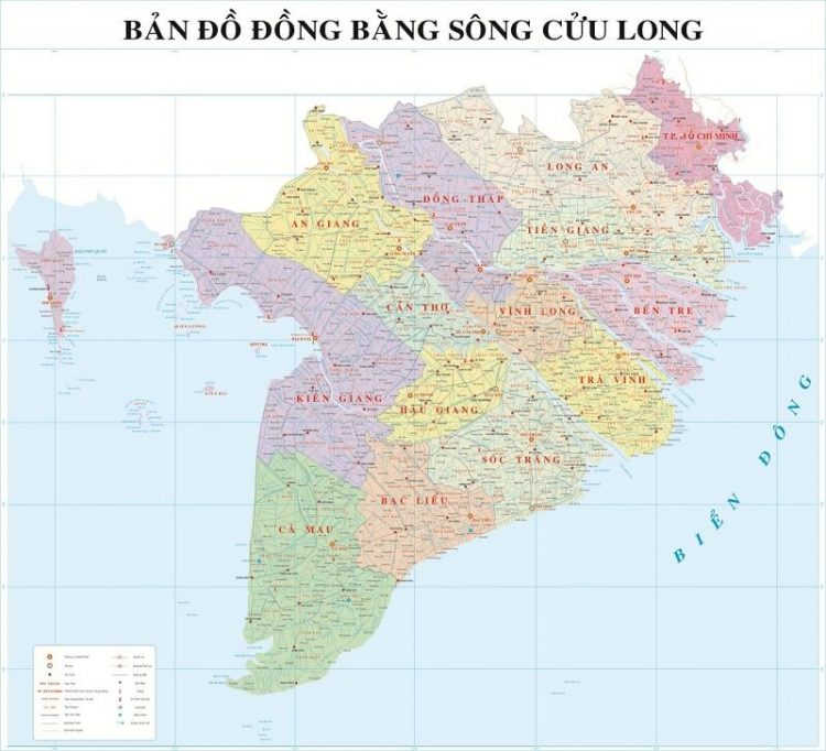 ban do dong bang song cuu long